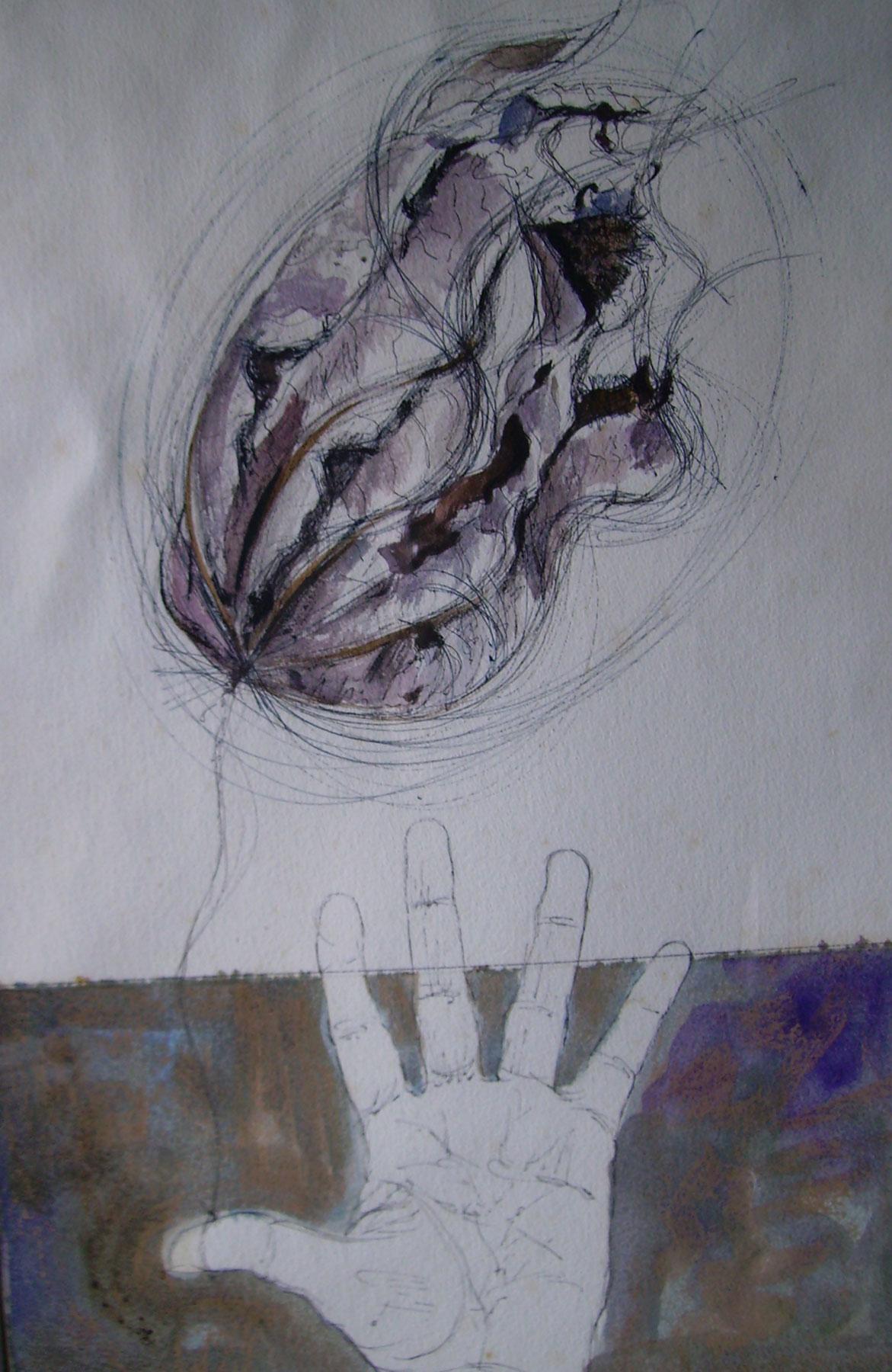 La mano y la hoja
