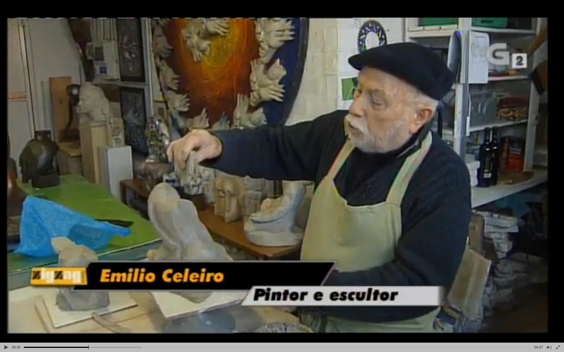 Emilio Celeiro, un artista en activo aos 89 anos
